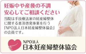 NPO 妊産婦 整体 不妊 産後 トラブル 婦人科
